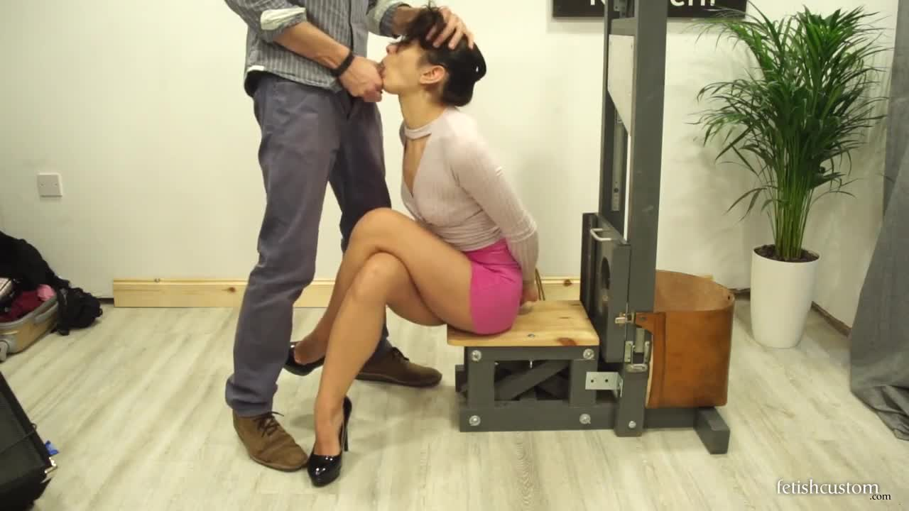 Giving Head - Valentina Bianco Gives Head On A Guillotine